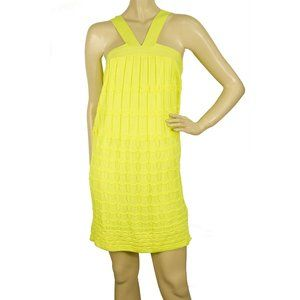 M Missoni Bright Yellow knitted Sleeveless mini ab